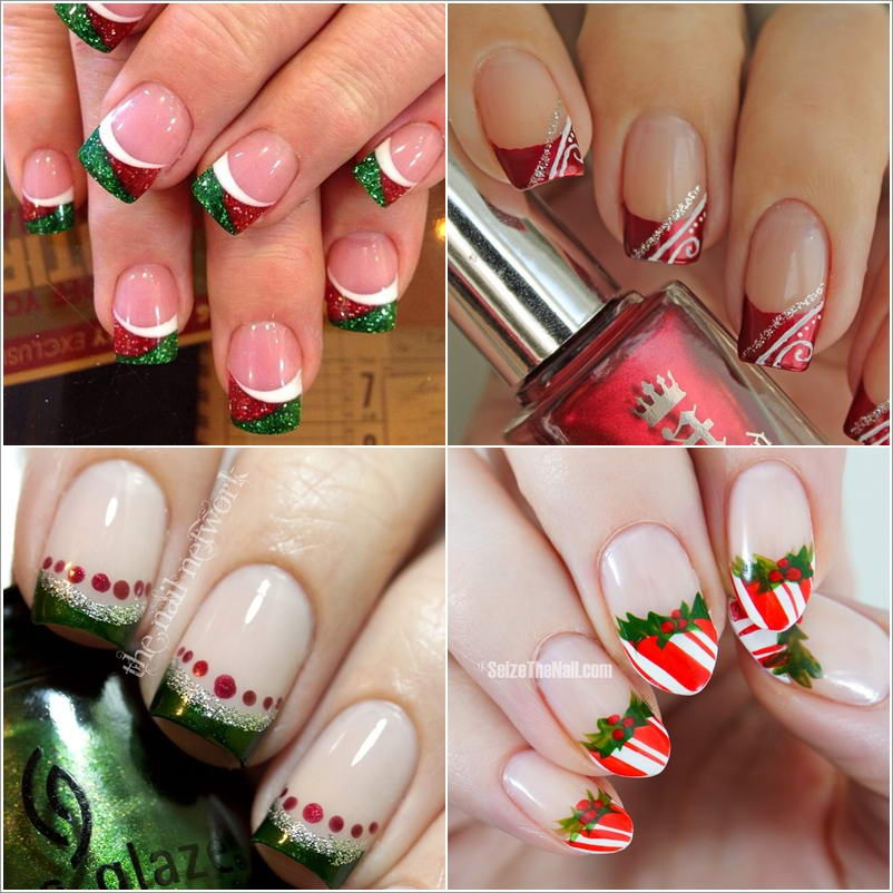 french-manicure-kerst