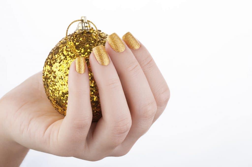 glitternagels kerst