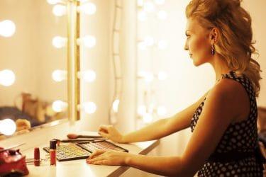 Make Up Spiegel : Aliseo led city light make up spiegel cm messing staal zwart