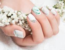 Mooie verzorgde en stijlvolle bruidsnagels